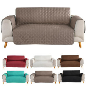 Quilted Microfiber Sofa Cover Chair Couch Slipcover Throw Pet Dog Protector Mat