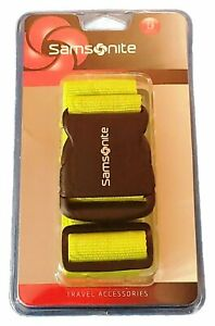 Samsonite Luggage Strap Belt Travel Accessory Neon Kiwi Green ABS Buckle $9.98