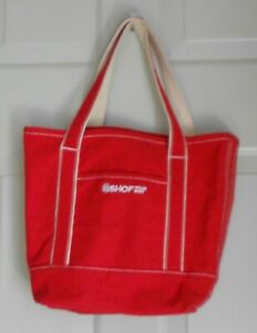 Shop Your Way Red Shopping Canvas Tote Bag 14.5quot; x 12quot;