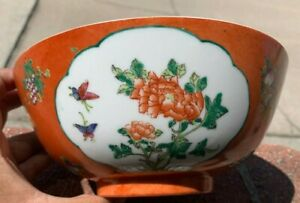 Estate Collection Chinese Antique Porcelain Famille Rose Bowl $150.00