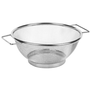 Fine Strainer Stainless Steel Mesh Bowl Drainer Vegetable Sieve Colander Sifter