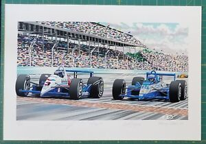 INDY 500 Limited Ed. Serigraph by Randy Owens Signed by Unser amp; Goodyear $900.00