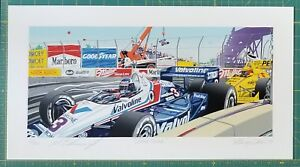 STEEL CABLE Limited Edition Serigraph by Randy Owens Signed by Al Unser Jr. $270.00