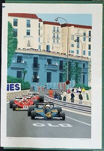 MONACO Limited Edition Serigraph by Randy Owens $1200.00