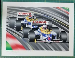 TEAM WILLIAMS Limited Edition Serigraph by Randy Owens $510.00