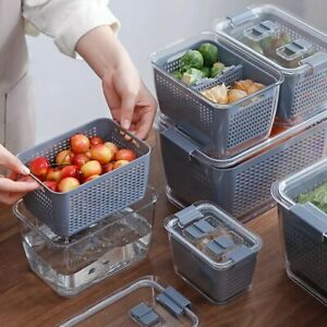 3 In 1 Fresh Produce Vegetable Fruit Storage Containers