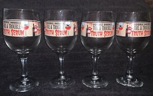 Double Double Toil amp; Trouble Truth Serum Wine Glasses 10oz Set of 4