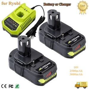 18 Volt P102 Lithium Ion P108 Battery or Charger For Ryobi One Plus P104 P107