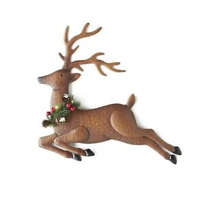 Lighted Metal Wall Hanging Reindeer Christmas Decoration Hallway Accent $16.12