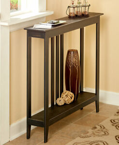 Slim Entryway Home Accent Table with Antique Finish $65.98