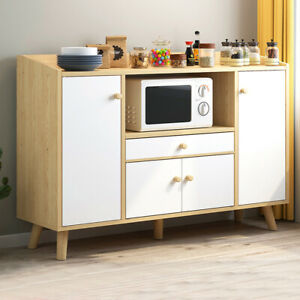 Wooden Sideboard Storage Cabinet Cupboards Shelf Multi Function Kitchen Home New