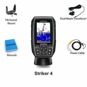 Garmin Striker 4 Fish Finder GPS Combo Depth Finder with Transducer 010 01550 00 $123.99