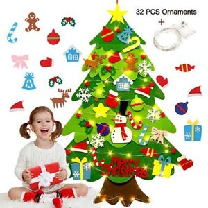 3FT Kids DIY Felt Christmas Tree with Ornaments Xmas Gift Wall Hanging Decor USA