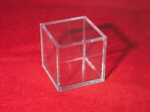 *3 Stackable Display Cube Holder Case For Ammonite Goniatite Meteorite Tektite