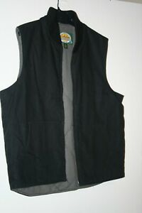 CABELAS Heavy Canvas Lined Work Vest Outdoors Blk Rodeo Mens Size large
