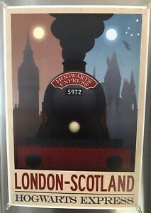 London Scotland Hogwarts Express Travel Poster Reprint 13quot; x 19quot; Harry Potter