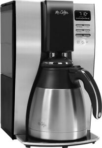 Mr. Coffee 10 Cup Coffee Maker with Thermal Carafe Stainless Steel Black