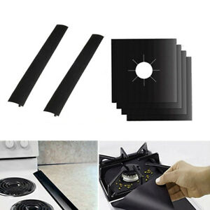 6Pcs Gas Hob Liner Practical Oven Liner Gas Hob Protector Sheets for Office Home