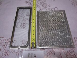 Lot: Air Filter and Glass Lamp Lens Cover for GE Spacesaver Microwave