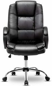 Leather Office Chair Swivel Computer Home Executive Gaming Desk Chairs High Back