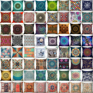 Bohemian Indian Mandala Meditation Cushion Cover Throw Square Pillow Case 45x45 $3.99