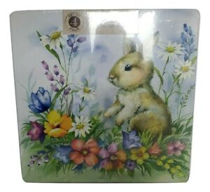 SET OF 8 SEALED New Spring Easter Bunny Rabbit Colorful Flowers Cork Placemats $79.99