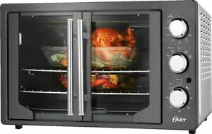Oster French Door Oven with Convection Metallic Charcoal