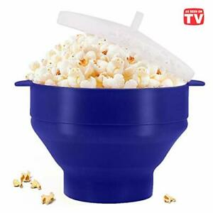 Microwaveable Silicone Popcorn Popper BPA Free Collapsible Hot Air Microwavable