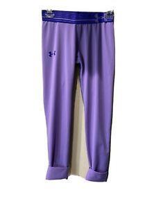 Armour Under Youth Violet Purple Cuffed Leggings Size Large $6.00