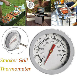 Barbecue BBQ Smoker Grill Thermometer Temperature Gauge Stainless Steel.