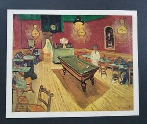 Van Gogh quot;The Night Cafequot; Mounted Offset Color Lithograph 1950 $39.99