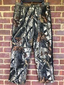 Walls Realtree Hardwoods Camouflage Pants Size Large Regular Insulated 3 Pockets