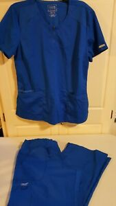 Lot of 5 scrub sets 1 top royal blue Size  large large petite