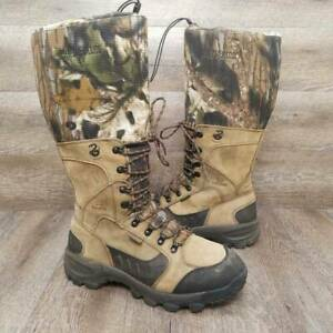 Irish Setter Men#x27;s Tall Hunting Snake Boots Mossy Oak Tan Leather Lace Up 11 EE