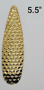 Fishing Spoon Flutter Hex 5.5 in. Build your own Tackle GOLD Cheap Wholesale