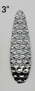 Fishing Spoon Flutter Hex 3.25 in. Build your own Tackle SILVER Cheap Wholesale