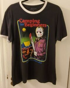 Friday The 13th Camping For Beginners Box Lunch T Shirt MD