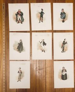 Set of Antique Lithographs Charles Dickens Characters $75.00