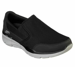 Extra Wide Fit Skechers Black Shoes Men Sporty Comfort Casual Soft Slip On 52984