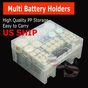 Plastic Battery Box Storage Case Holder Organizer for AA AAA C D 9V Batteries $6.95