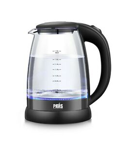 Glass cordless Electric Kettle with LED indicator 1200W Electric Tea Kettle $20.99