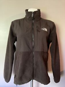The North Face Womens Size Medium Denali Brown Jacket Fleece Outerwear Coat