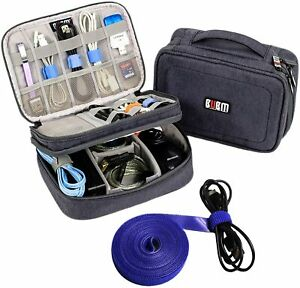 Electronics Organizer Travel Cable Cord Wire Bag Accessories Gear Storage Cases $29.99