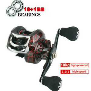 Left amp; Right Metal Baitcasting Reel Magnetic Brake CNC Spool 7.2:1 181BB 10KG $23.99