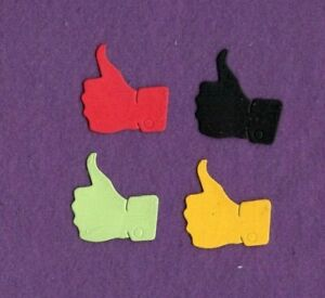 THUMBS UP RIGHT die cuts scrapbook cards $1.50