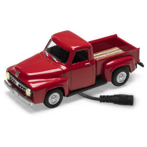 Menards 1:48 Scale CORAL FLAME RED 1953 FORD Pickup Truck Lighted Diecast