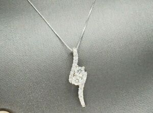 Ever Us 14 Kt. White Gold Ever Us Diamond Pendant 3 4 Ct. Size 18quot; 3.1g