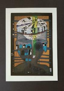 Friedensreich Hundertwasser quot;The Sailor IIquot; Mounted offset Lithograph 1986 $49.00