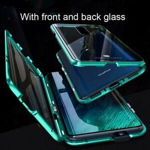 360° Tempered Glass Cover Magnetic Adsorption Case Metal For Oneplus 7 Pro $6.98