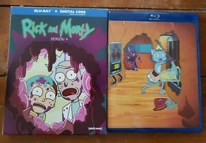 Rick and Morty Season 4 W Slipbox Blu ray IN LIKE NEW CONDITION. NO DIGITAL $15.00